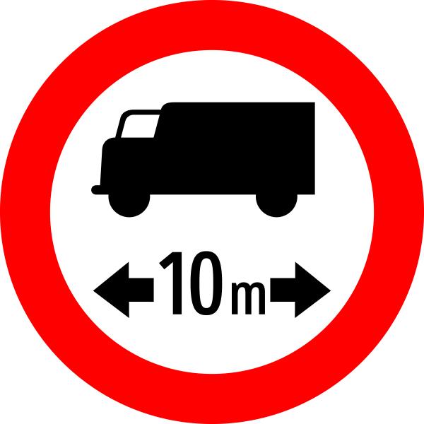 verkehrszeichen  §527a fahrverbot für lkw mit
