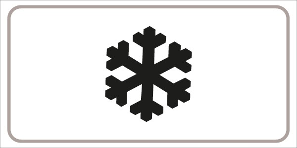 §54/5 Schnee und Eis   flaches Verkehrszeichen