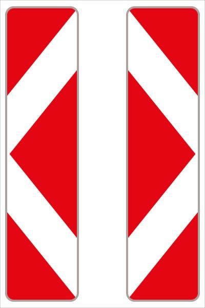 Leitbake rot/weiß