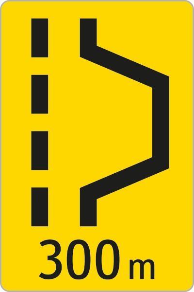 Kennzeichnung Pannenbucht | flaches Verkehrszeichen