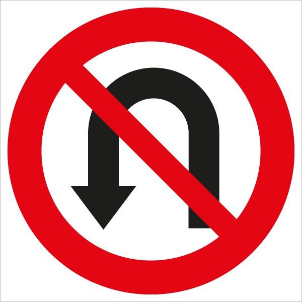 §52/3c Umkehren verboten | flaches Verkehrszeichen