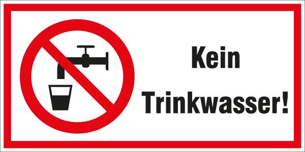 Hinweiß P005 Kein Trinkwasser Aufkleber verbots´Aufkleber  Sticker ab 5cm