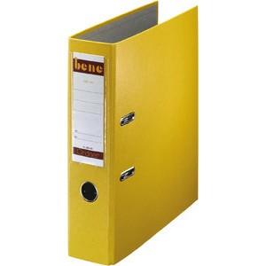 Ordner No.1, PP-kaschiert, Einsteckrückenschild, A4, 80 mm, gelb