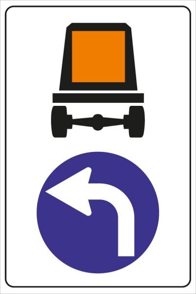 §52/15a*a Vorgeschriebene Fahrtrichung für Fahrzeuge mit gefährlichen Gütern