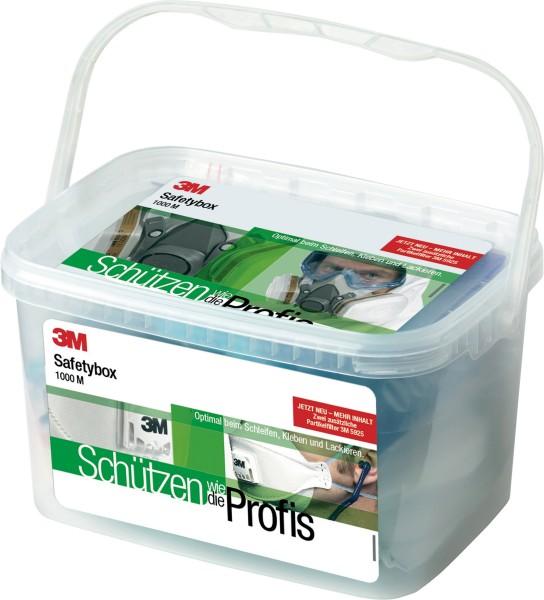 3M Safety Box 1000M 1x Halbmaske 6200M 2x Gasfilter 6055 4x. Partikelfilter 5925 2x Deckel 501 2x Pa