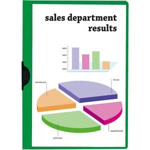 Klemmmappe, transparenter Vorderdeckel, A4, für: 1 - 60 Blatt, grün