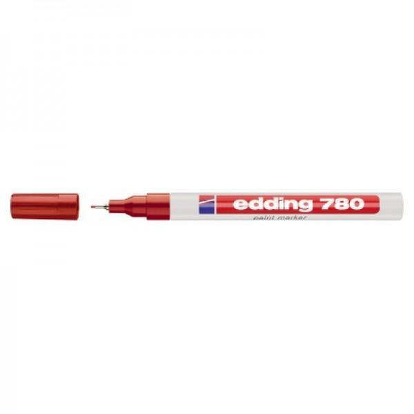 edding Lackmarker 780 4-780002 0,8mm Rundspitze permanent rot