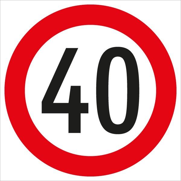 §52/10a Geschwindigkeitsbegrenzung 40 km/h