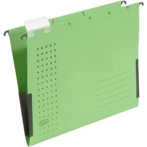 Hängetasche chic, Karton (RC), seitlich Frösche, A4, grün