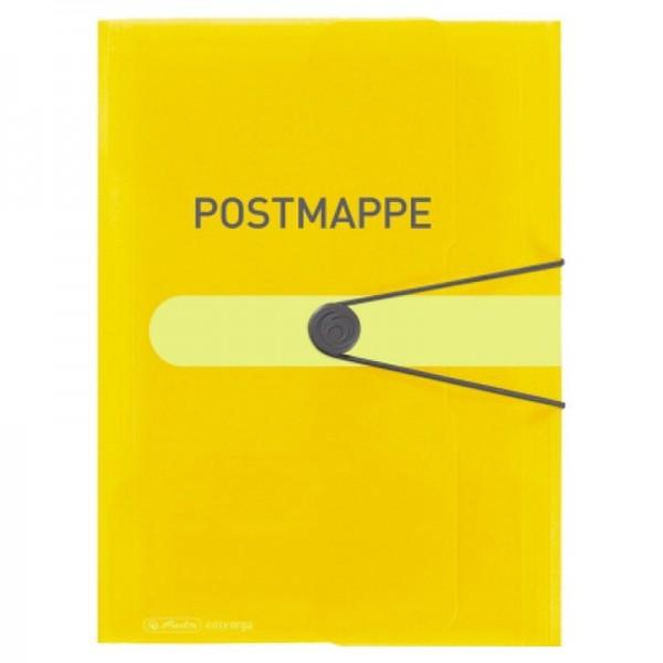 Herlitz Gummizugmappe 11394343 A4 Postmappe PP Folie transp.