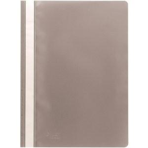 Schnellhefter, PP, transparenter Vorderdeckel, A4, grau