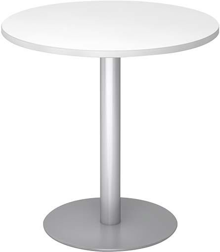 Besuchertisch Weiß/SilberD 800mm