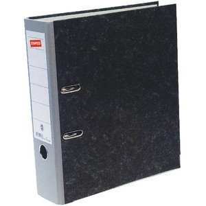 Ordner, Wolkenmarmorpapier (RC), SK-Rückenschild, A4, 80mm, grau
