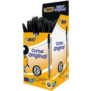 Kuli, CristaL® original, 0,4 mm, Schaft: fl, tr, Schreibf.: schwarz