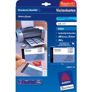 Visitenkarte Quick&Clean™, 260 g/m², 85x54mm, weiß, matt