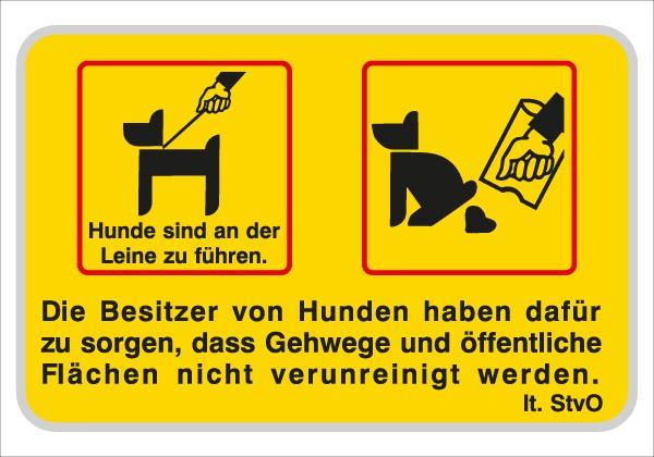 Die Besitzer von Hunden haben dafür .... | C-Sign, gebördelt