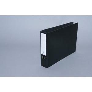 Ordner, Hartpappe (RC), SK-Rückenschild, A3 quer, 80 mm, schwarz