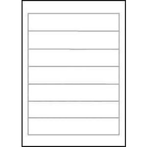 Rückenschild, A4-Bg., sk, Pap., schm./kurz, 38x192mm, weiß