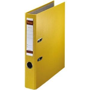 Ordner No.1, PP-kaschiert, Einsteckrückenschild, A4, 52 mm, gelb