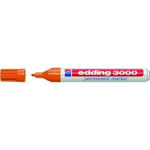 Permanentmarker, 3000, Rundspitze, 1,5-3 mm, Schreibf.: orange