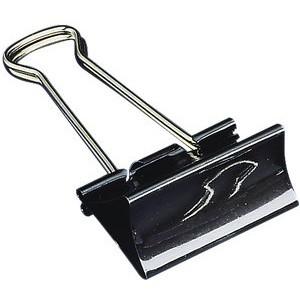 Briefklemmer, Metall, B: 41 mm, Klemmweite: 19 mm, schwarz