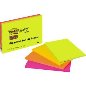 Haftnotiz Super Sticky Meeting Notes, 152x101mm, sortiert, 45 Blatt