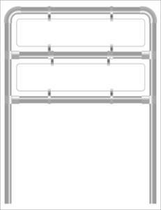 Rohrrahmen H7. 1460x250 x2.