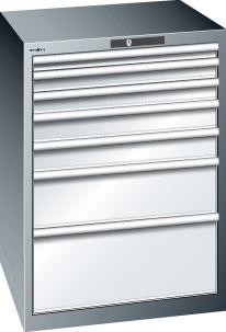 Schubladenschrank grau H1000, 7 Schubl. 14.416.020