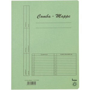 Schnellhefter Comba-Mappe, Karton (RC), A4, grün