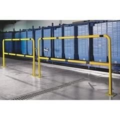 Sicherheitsbügel für Gefahrenzonen, zum Einbetonieren, kobaltblau RAL 5013, Brei