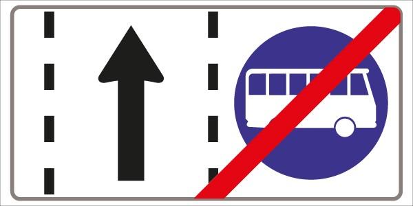 §53/25a Ende des Fahrstreifens für Omnibusse