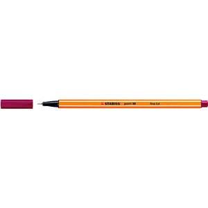 Fineliner point 88®, mit Kappe, 0,4 mm, Schreibf.: dunkelrot