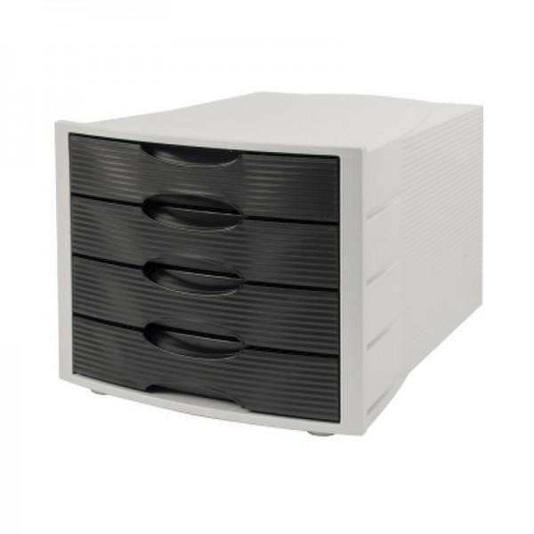Soennecken Schubladenbox 1555 4geschlossene Schübe schwarz