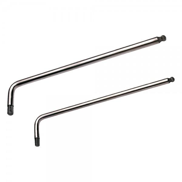 A-MAG Sechskantstiftschlüssel, lang, mit Kugelkopf, Edelstahl, SW 9,0 mm