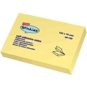 Haftnotiz stickies™, 101 x 76 mm, gelb, 100 Blatt