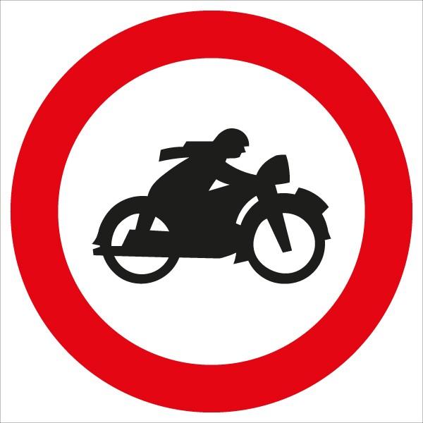 §52/6b Fahrverbot für Motorräder | flaches Verkehrszeichen