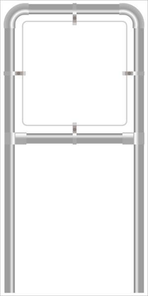 Rohrrahmen C3. 1500x1500 mm