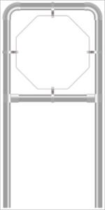Rohrrahmen C2. 630x630 mm