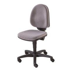 Standard-Drehstuhl, ohne Armlehnen, Rückenlehne 450 mm, Stoff grau, Gestell schw