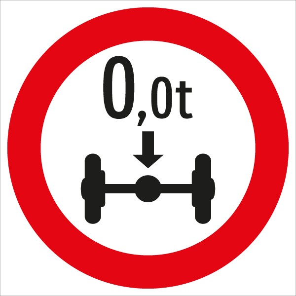 §52/9d Fahrverbot für Fahrzeuge mit über ...t Achsdruck