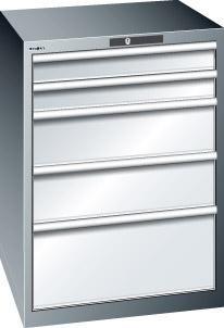Schubladenschrank grau H1000, 5 Schubl. 79.488.020