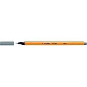 Fineliner point 88®, mit Kappe, 0,4 mm, Schreibf.: dunkelgrau