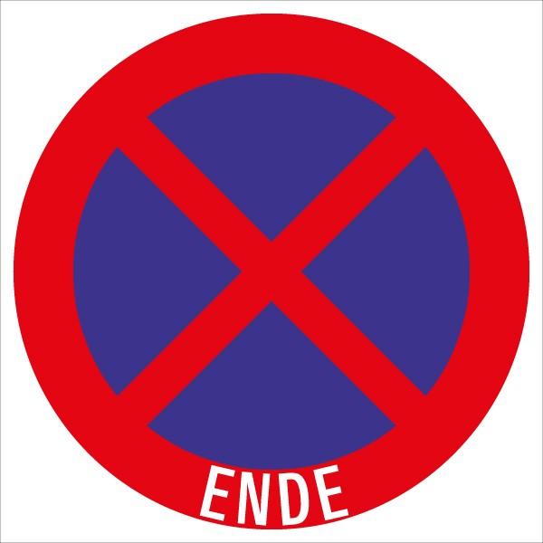§52/13b Halten u. Parken verboten - Ende | flaches Verkehrszeichen