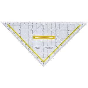 TZ-Dreieck, mit Facette, Hypotenuse: 22,5 cm, glasklar