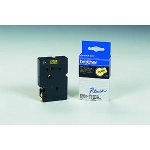 Schriftbandkassette TC, 12mmx7,7m, schwarz auf gelb
