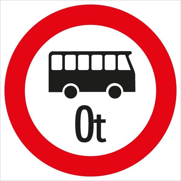 §52/7f Fahrverbot für Omnibusse mit Gewichtsangabe