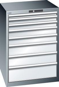 Schubladenschrank grau H1000, 8 Schubl. 14.508.020