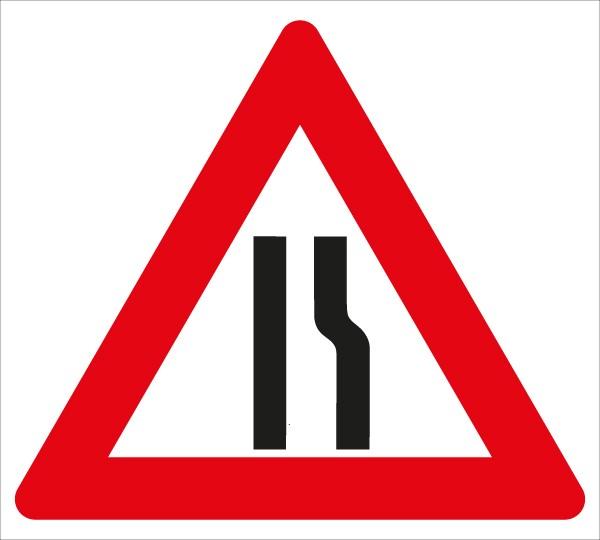 §50/8c Fahrbahnverengung rechtsseitig