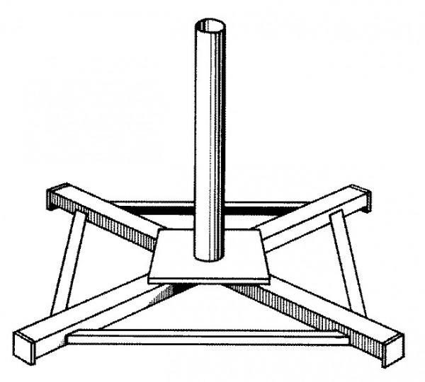 Ständerkreuz für Rohrsteher Type A/48 500/500mm
