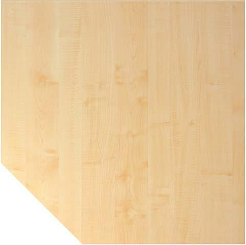 Trapezplatte Ahorn 120x120 cm